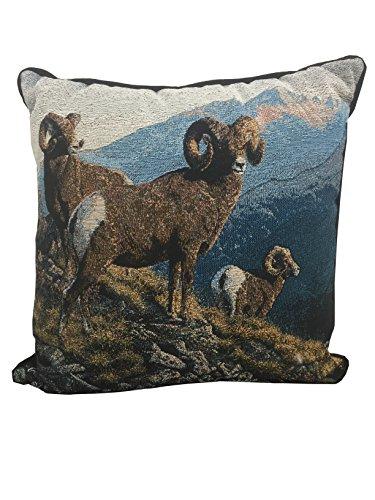 Scene Weaver Extraordinary Gentlemen Tapestry Pillow (Big Horned Sheep) 17