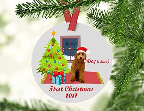 - Fhdang Decor Doodle Christmas Ornament, Goldendoodle Christmas Ornament, Labradoodle Christmas Ornament, Goldendoodle Ornament, Labradoodle Ornament, 3 Inches