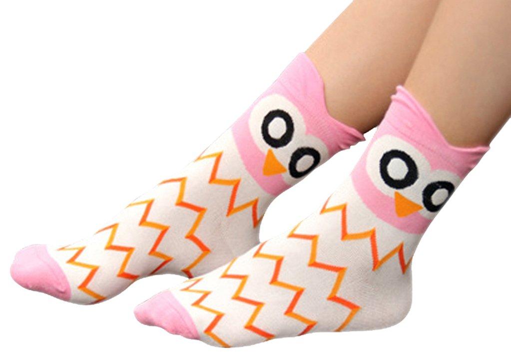 Women's Lady's Cute Owl Design Cotton Socks,5 Pairs Multi Color One Size by Bienvenu (Image #5)