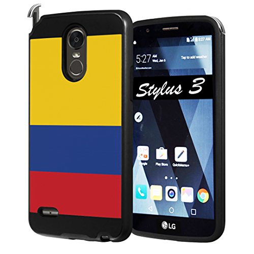LG Stylo 3 Case, LG Stylo 3 Plus Case, Capsule-Case Hybrid Fusion Dual Layer Slick Armor Case Black for LG Stylo3 (LS777 M430 L83BL L84VL) / Stylo3 Plus (TP450 MP450) - Colombia Mall