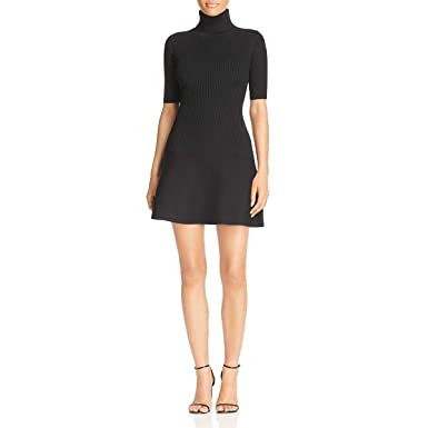 ec343ea4b39 Image Unavailable. Image not available for. Color  Michael Michael Kors  Womens Turtleneck Mini Sweaterdress ...