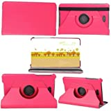 PANDA Dell Venue 8 PRO Smart Cover Case 360 Rotating Ultra-thin Leather Case Wiht Stand Covers for Dell Venue 8 PRO Windows 8.1 Hd Tablet (8 Inch) (PINK)
