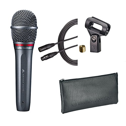 Audio Technica AE6100 Vocal Dynamic Mic with Pouch, Clip and AT8314-25 Premium XLR Cable