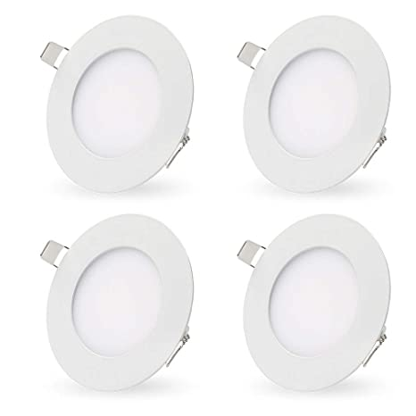 finest selection fc8b7 0571a LED Recessed Lighting Retrofit, 4-inch 7 Watt 3000K Warm White Ultra-Thin  LED Ceiling Can Light Downlight Easy Installation-4 Pack