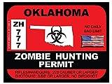 Oklahoma Zombie Hunting Permit(Bumper Sticker)