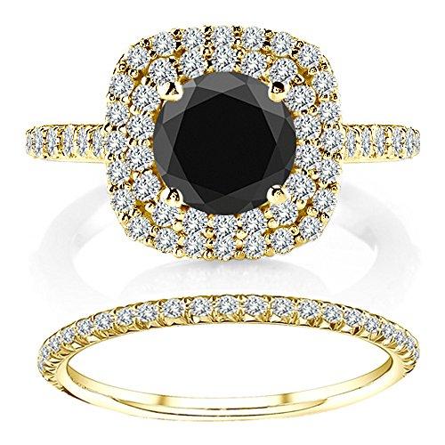 Buy tcw black diamond ring size 7