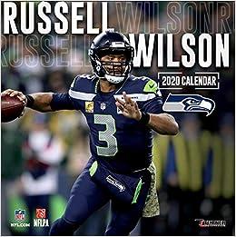 Seattle Seahawks Schedule 2020.Seattle Seahawks Russell Wilson 2020 12x12 Player Wall