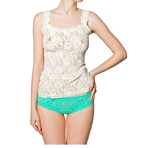 Hanky Panky Signature Lace Tank - Hanky Panky Women's Signature Lace Classic Camisole (Marshmallow,S)