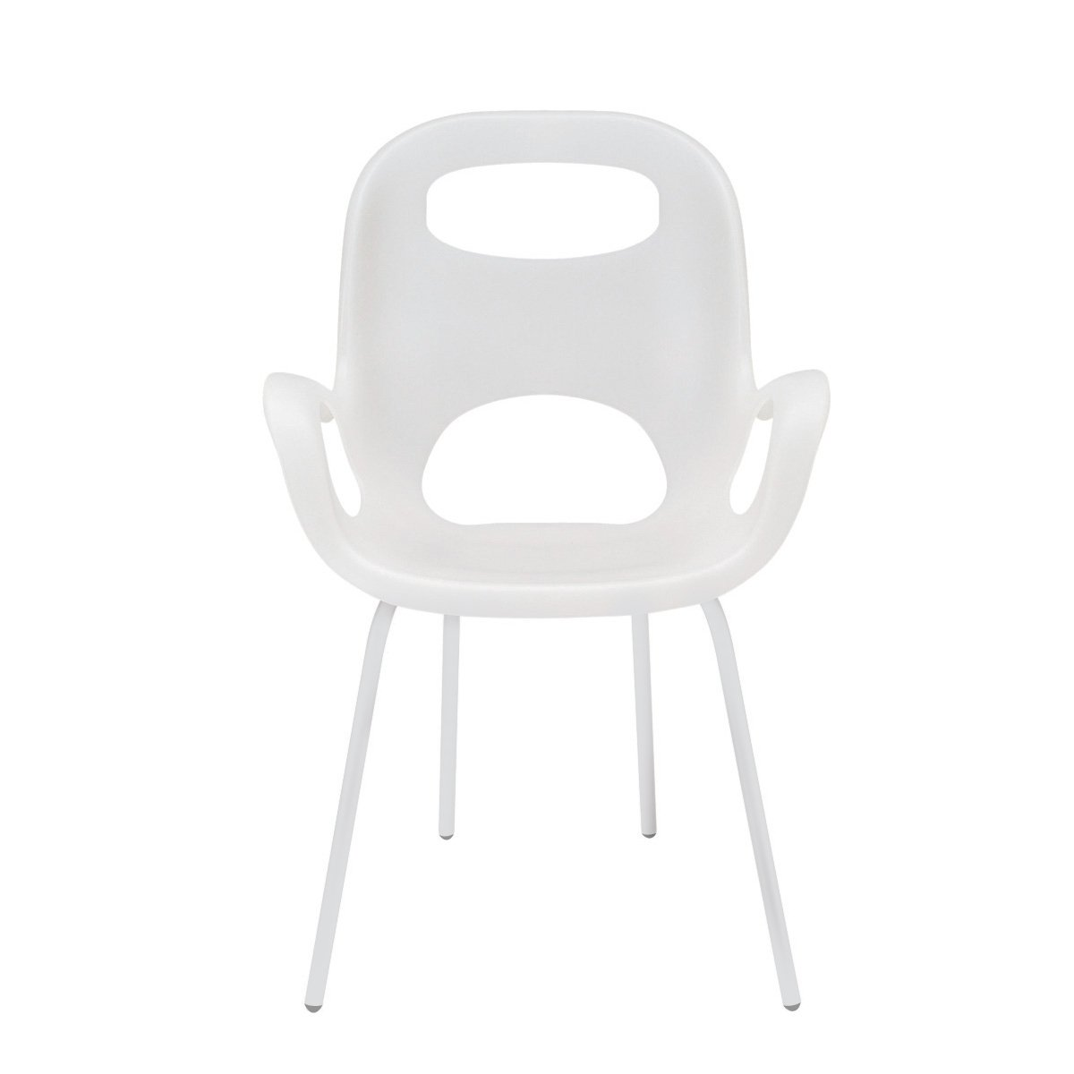 Umbra Oh Chair, Comfortable Seating Indoors and Outdoors, Weather-Resistant, White