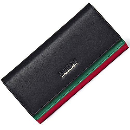 FIGESTIN Women Genuine Leather Wallet Rfid Bloc...