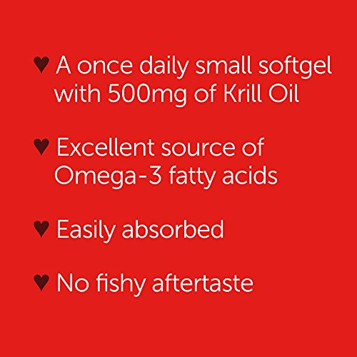 Omega-3 Fish Oil 500mg - Megared Extra Strength 90 softgels - Krill Oil No fishy aftertaste by Megared (Image #5)