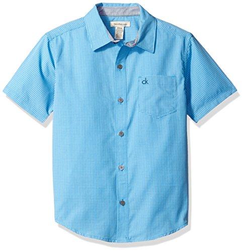 Calvin Klein Boys Lifestyle Gingham Short Sleeve Shirt