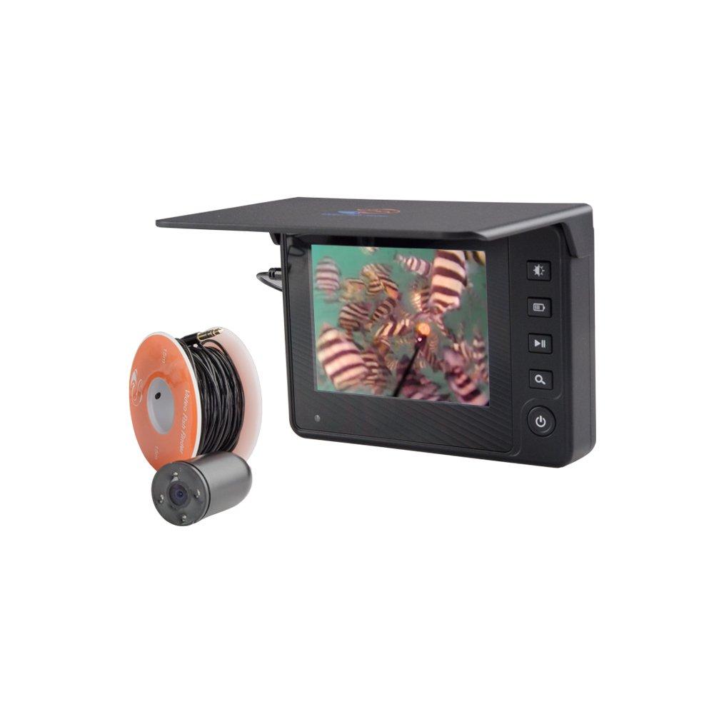 3.5インチモニター搭載 フィッシングカメラ!魚を見ながら釣れる【フィッシングカメラ/15M】   B076JGCS9X