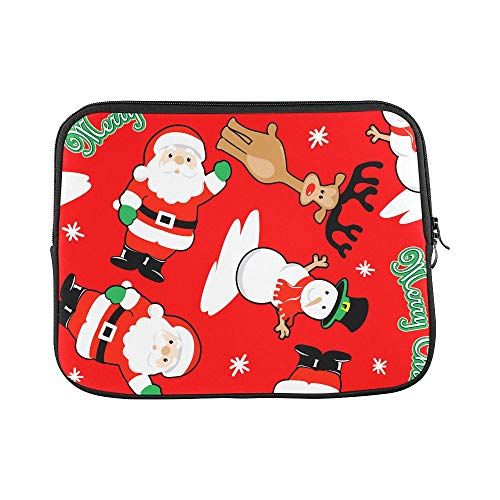 Design Custom Merry Christmas Santa Snowman Deer Pattern Sleeve Soft Laptop Case Bag Pouch Skin for MacBook Air 11