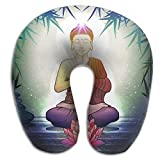 Buddha In Meditation Pattern Super Comfortable U Type Pillow Neck Pillow Relex Pillow Travel Pillow With Resilient Material