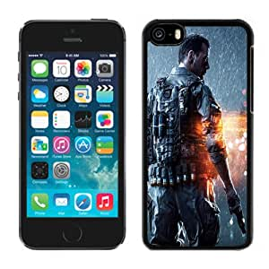 NEW Unique Custom Designed iPhone 5C Phone Case With Battlefield 4 Soldier_Black Phone Case