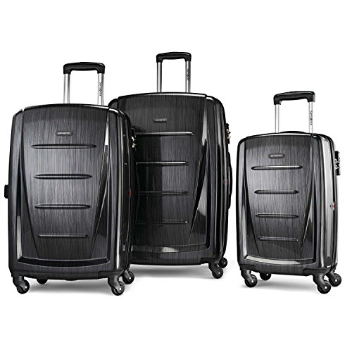 - Samsonite Winfield 2 Expandable Hardside Luggage Set with Spinner Wheels, 3-Piece (20/24/28), Brushed Anthracite