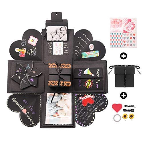 Kicpot Explosion Box Creative Photo Album, Surprise DIY Gift Scrapbook for Boyfriend Valentines Day Wedding Birthday More Fit 200 Photos