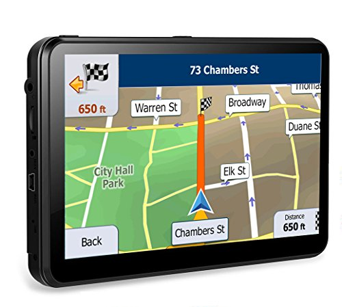 8GB Portable GPS Navigation for car Widescreen 7 Inch Capacitive Touch Screen, Portable Navigator Built-in Latest Map Data and Free Lifetime Updates All US Maps. by KYXHEART