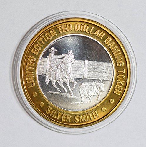 IE BU0344 US casino chip token cow boy silver DE PO-01