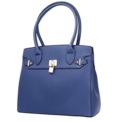 Bella Bags - Bolso de tela de Otra Piel para mujer talla única Azul