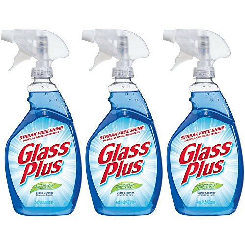 - Glass Plus Glass Cleaner, 32 fl oz Bottle, Multi-Surface Glass Cleaner (Pack of 3)