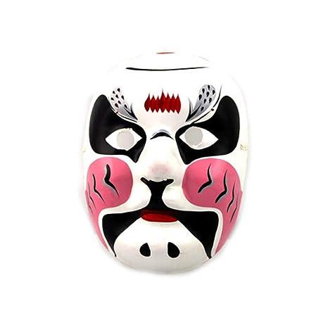 zllyl Máscaras Máscara de pulpa de yeso pintada a mano máscara de la quintaesencia de arte
