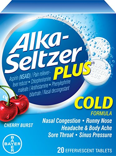 Alka-Seltzer Plus Cherry Zest Effervescent, 20 Count