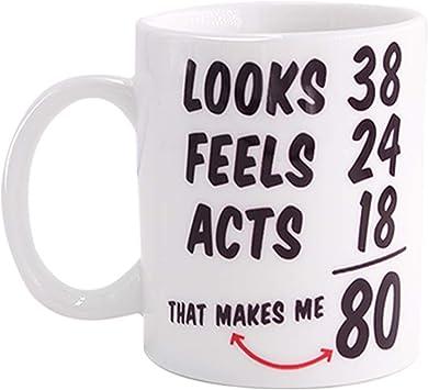 Funny 80th Birthday Ideas Mug for Men and Women