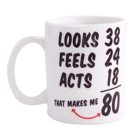 Christmas Gift Ideas For Him Amazon.Funny 1938 80th Birthday Gifts Ideas Mug For Men And Women Best Novelty Ceramic Coffee Mugs Anniversary Or Christmas Unique Gift Idea For Him Her
