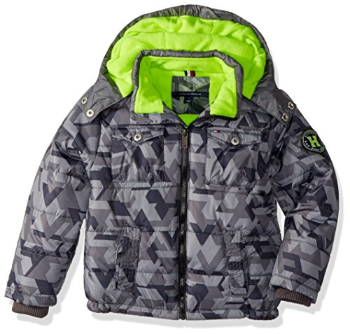 Tommy Hilfiger Little Boys' Alexander Puffer Jacket, As Grey, 5