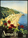 "Amalfi Is a Town and Comune in the Province of Salerno Close to Naples Italy Travel Italiana Italian 12"" X 16"" Image Size Vintage Poster Reproduction. Several more sizes available!"