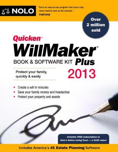 Quicken WillMaker Book & Software Kit Plus [With CDROM] (Quicken Willmaker...