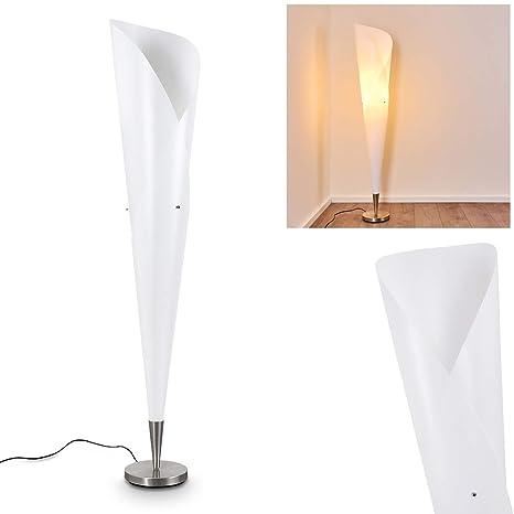 Lámpara de pie Mungia en plástico blanco - salón comedor ...