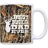 Hunting Camo Best Buckin' Dad Ever Gift Coffee Mug Tea Cup Camo