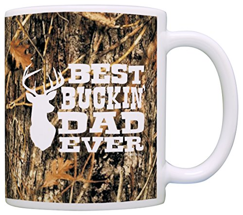 Hunting Camo Best Buckin' Dad Ever Gift Coffee Mug Tea Cup Camo