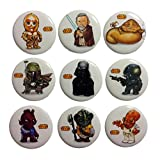 Star Wars Buttons Badges 9 Pcs Set #1
