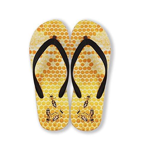 För U Designar Skor Unisex Män Kvinnor Rolig Mode Slip På V Flip Flops Sandaler Stranden Skor Bee
