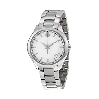 0f063d52436 Image Unavailable. Image not available for. Color  Movado Bellina Mother of  Pearl Dial Stainless Steel Ladies ...