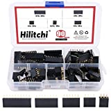 Hilitchi 90pcs 2.54mm Arduino Stackable Shield Female Pin Header Assortment Kit (Double Row 3/4/6/8/10 Pins)
