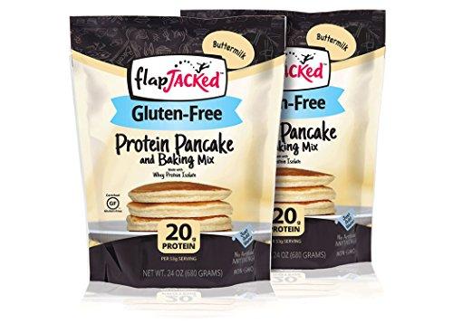 FlapJacked Protein Pancake & Baking Mix, Gluten-Free Buttermilk, 24oz, 2 Pack