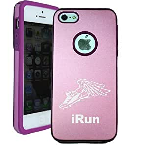 Irun Running iPhone 5 Case - Candy Case iPhone 5S Case - Candy Case - MetalTouch Pink Aluminium Shell With Silicone Inner