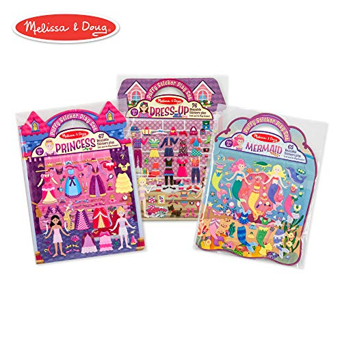 Melissa & Doug Puffy Sticker Activity Books Set: