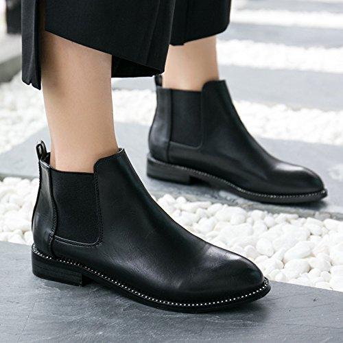 Femmes Bottes Hiver les Avec Chaussures Martin Khskx Des De Talons Bruts A Automne Les Cachemire Thirty Hauts six Le Diamants Souligné wgnUBq0