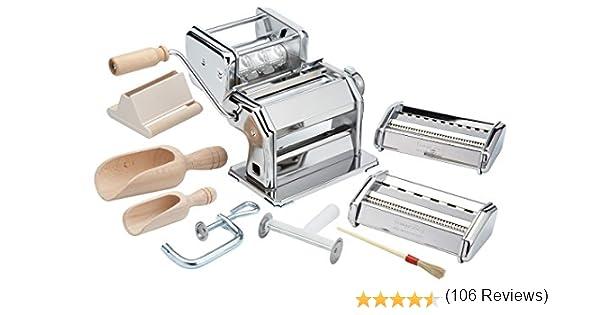 Imperia Italian 505 - Máquina para Hacer Pasta (9 Piezas, Estuche Regalo): Amazon.es: Hogar