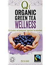 Qi Tea Organic Wellness Green Tea Teabags, 25 Count