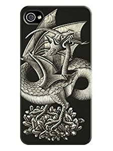 Design iphone 4/4s Print Case With Hard Shell Cover for Escher Background image LarryToliver #4