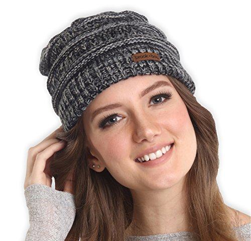Brook + Bay Women's Cable Knit Multicolored Beanie - Thick, Soft & Warm Chunky Beanie Hats for Winter - Serious Beanies for Serious Style (with 11+ Colors)