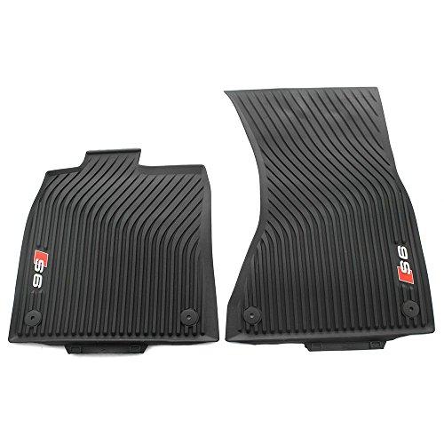 Audi 4G1061221B041 4G1061221B 041 Rubberen automatten met S6 logo originele allweather matten 2 X voorzijde rubberen…