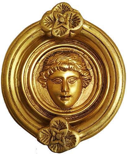 Purpledip Brass Door Knocker: Antique Roman King Gate Handle - Gate Roman